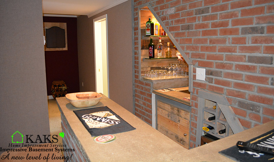 Basement Wet Bar Mendon ma